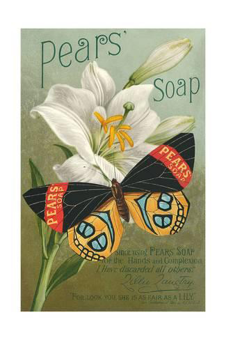 d26ce0274 Pear's Soap Advertisement - Butterfly White Lily Flower Poster Buy This  Poster